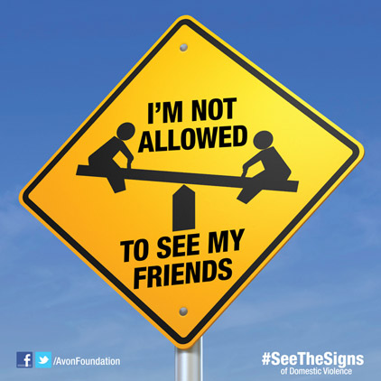Show and Share the Sign!  Graphic courtesy of the Avon Foundation for Women